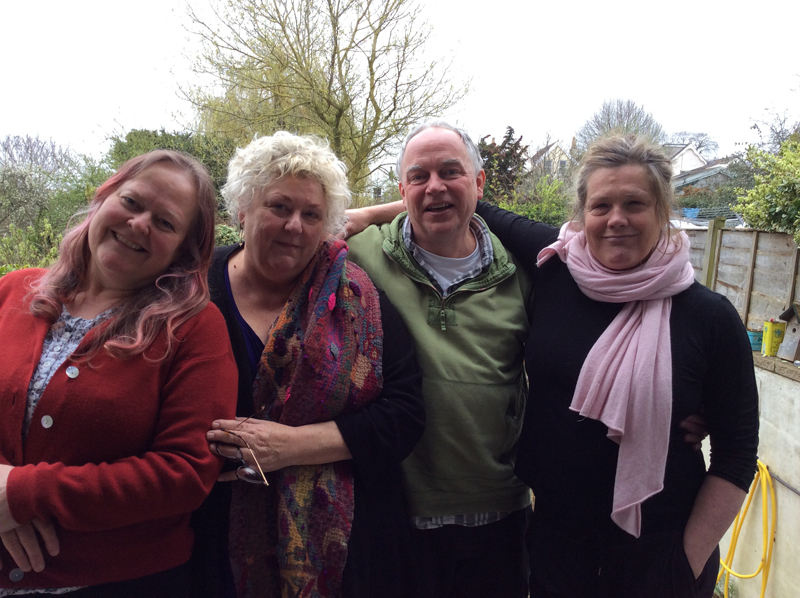 The Bristol Relationships team: Zoe Barid, Barbara Bloomfield, Rex Baird and Dominique Sakoilsky
